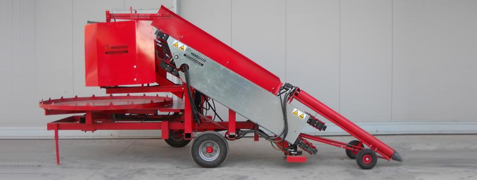 macchina per la raccolta della cicoria da seme